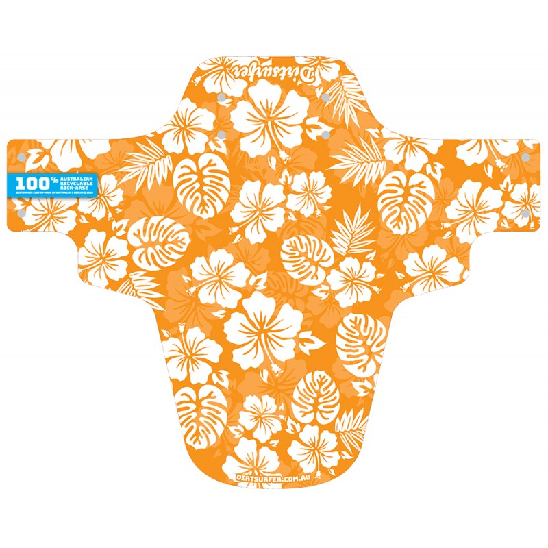 Orange Hawaii mudguard