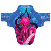 Octopus Mudguard (Pink on Blue)